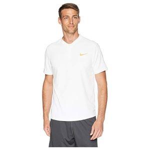 Nike White Tennis Polo Shirt, L